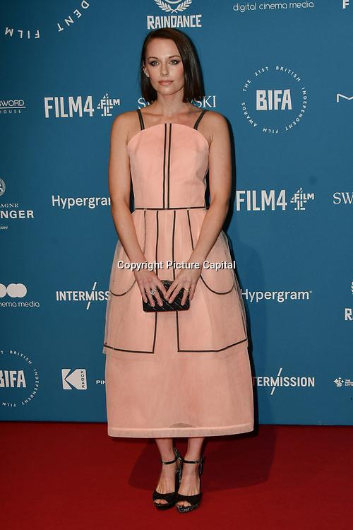 Jessica Ellerby Arrivers at The 21sh British Independent Film Awards at 1 Old Billingsgate Walk on 21 December 2018, London, UK.