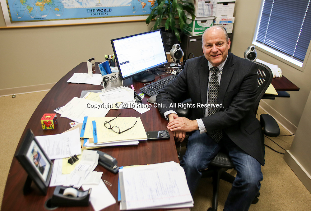 Richard Marks, partner at Beverly Hills law firm the Point Media, in his office. <br /> (Photo by Ringo Chiu/PHOTOFORMULA.com)<br /> <br /> Usage Notes: This content is intended for editorial use only. For other uses, additional clearances may be required.