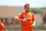 Luton Town Danny Green during the Pre-Season Friendly match between Peacehaven & Telscombe and Luton Town at the Peacehaven Football Club, Peacehaven, United Kingdom on 18 July 2015. Photo by Phil Duncan.