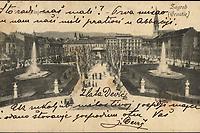 Zagreb (Croatie) : Zrinjevac. <br /> <br /> ImpresumZagreb : Naklada A. Brusina, [1904].<br /> Materijalni opis1 razglednica : tisak ; 8,5 x 13,8 cm.<br /> SuradnikMosinger, Rudolf(1865.–1918.)<br /> NakladnikTiskara A. Brusina<br /> Mjesto izdavanjaZagreb<br /> Vrstavizualna građa • razglednice<br /> ZbirkaZbirka razglednica • Grafička zbirka NSK<br /> Formatimage/jpeg<br /> PredmetZagreb –– Trg Nikole Šubića Zrinskog<br /> SignaturaRZG-ZRIN-8<br /> Obuhvat(vremenski)20. stoljeće<br /> NapomenaRazglednica je putovala 1904. godine. • Poleđina razglednice namijenjena je samo za adresu. • Razglednica je tiskana po fotografiji R. Mosingera, Zagreb.<br /> PravaJavno dobro<br /> Identifikatori000953213<br /> NBN.HRNBN: urn:nbn:hr:238:628647 <br /> <br /> Izvor: Digitalne zbirke Nacionalne i sveučilišne knjižnice u Zagrebu