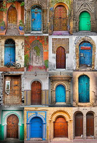 Moroccan Doors Collage 16 pictures. & Moroccan Doorways Collage | Laura McGlone Photography