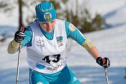 PRYLUTSKA Olga Guide: BABAR Borys, UKR, Long Distance Cross Country, 2015 IPC Nordic and Biathlon World Cup Finals, Surnadal, Norway
