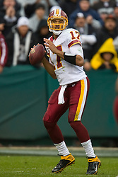 December 13, 2009; Oakland, CA, USA;  Washington Redskins quarterback Jason Campbell (17) during the second quarter against the Oakland Raiders at Oakland-Alameda County Coliseum.  Washington defeated Oakland 34-13.
