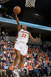 Virginia Cavaliers Guard Monica Wright (22)shoots a lay up against South Florida.  The Virginia Cavaliers defeated the South Florida Bulls 73-71 in the third round of the Women's NIT held at John Paul Jones Arena in Charlottesville, VA on March 22, 2007.