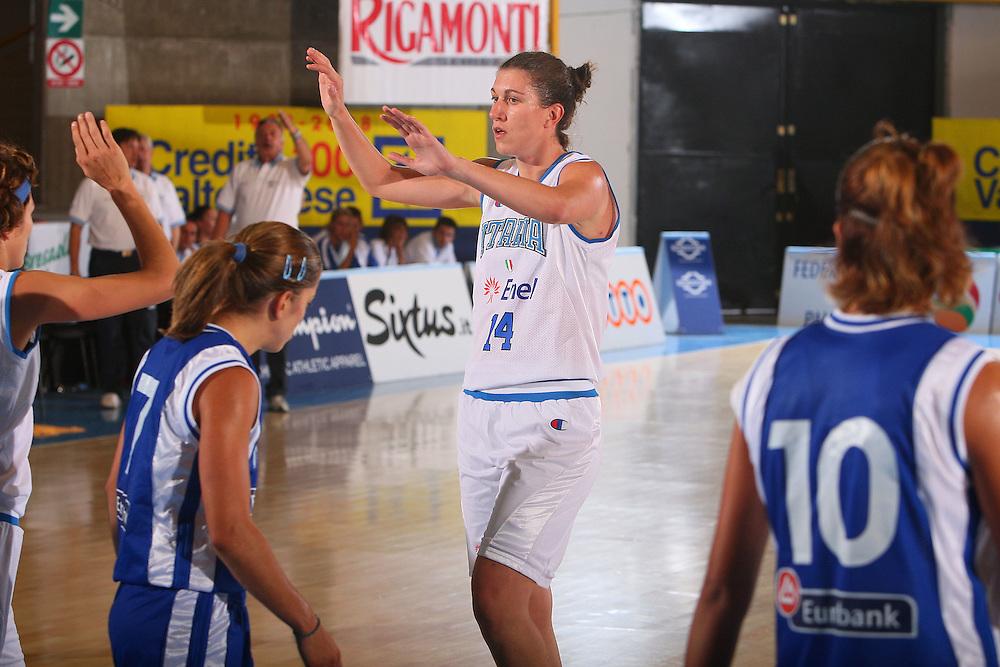 DESCRIZIONE : Bormio Torneo Internazionale Femminile Olga De Marzi Gola Italia Grecia <br /> GIOCATORE : Eva Giauro <br /> SQUADRA : Nazionale Italia Donne Italy <br /> EVENTO : Torneo Internazionale Femminile Olga De Marzi Gola <br /> GARA : Italia Grecia Italy Greece <br /> DATA : 24/07/2008 <br /> CATEGORIA : Esultanza <br /> SPORT : Pallacanestro <br /> AUTORE : Agenzia Ciamillo-Castoria/S.Silvestri <br /> Galleria : Fip Nazionali 2008 <br /> Fotonotizia : Bormio Torneo Internazionale Femminile Olga De Marzi Gola Italia Grecia <br /> Predefinita :