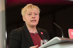 © Licensed to London News Pictures. 10/06/2016. LONDON, UK.  ANGELA EAGLE makes a speech detailing an analysis of how a Conservative Brexit Budget would look if the UK were to vote to leave the European Union (EU) in a referendum. The Labour Party analysis warns of the implications a Brexit Budget would have on public services and family finances, including the introduction of more than £18bn in social security cuts and tax rises.  Photo credit: Vickie Flores/LNP