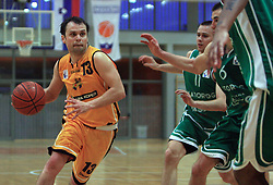 Miha Cmer of Koper at 12th Round of UPC League basketball match between KK Luka Koper and KK Zlatorog Lasko, on May 2, 2009, in Arena Bonifika, Koper, Slovenia. Zlatorog won the match 72:71. (Photo by Vid Ponikvar / Sportida)