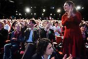 Femke Halsema wordt op de 28e partijcongres van GroenLinks in Vredenburg Leidsche Rijn in Utrecht opnieuw gekozen als lijsttrekker van de partij. <br /> <br /> At the party congress Femke Halsema is re-elected as leader of the party GroenLinks