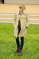 Burberry Prorsum Menswear Spring /Summer 2014 Collection.<br /> Jamie Bower Campbell arrives for Burberry Prorsum Menswear Spring /Summer 2014 Collection, Perks Field, Kensington Gardens, <br /> London, United Kingdom<br /> Tuesday, 18th June 2013<br /> Picture by Chris  Joseph / i-Images