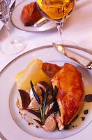 chicken with Cepe mushrooms at L'Ambroisie, Paris