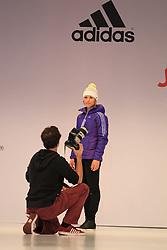 01.10.2013, Messe, Duesseldorf, GER, Einkleidung Olympiamannschaft Sochi 2014, im Bild Magdalena Neuner beim Shooting fuer ihre selbst gestrickte Adidas Muetze fuer das Olympia Team, // during the Presentation of the Olympic Team Germany for Sochi 2014 at the Messe, Duesseldorf, Germany on 2013/10/01. EXPA Pictures © 2013, PhotoCredit: EXPA/ Eibner/ Joerg Schueler<br /> <br /> ***** ATTENTION - OUT OF GER *****