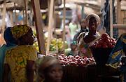 Market scene in Tamale, northern Ghana, on Sunday June 3, 2007.