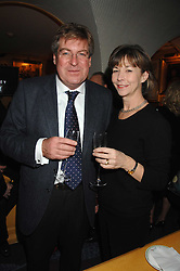 Broadcaster EDWARD STOURTON and his wife FIONA STOURTON at a party to launch Crosley Diamonds at Annabels, Berkeley Square, London on 15th November 2007.<br /><br />NON EXCLUSIVE - WORLD RIGHTS