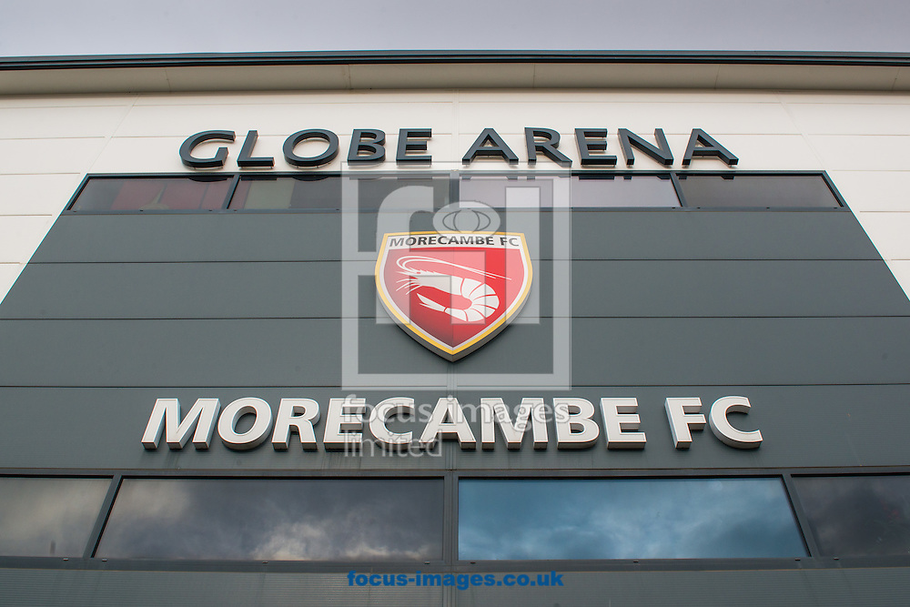 An exterior view of the Globe Arena, Morecambe prior to the first round FA Cup match between Morecambe and Coventry City<br /> Picture by Matt Wilkinson/Focus Images Ltd 07814 960751<br /> 06/11/2016