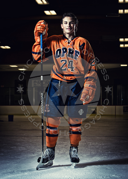2014 OPRF Huskies Varsity Hockey photo day.