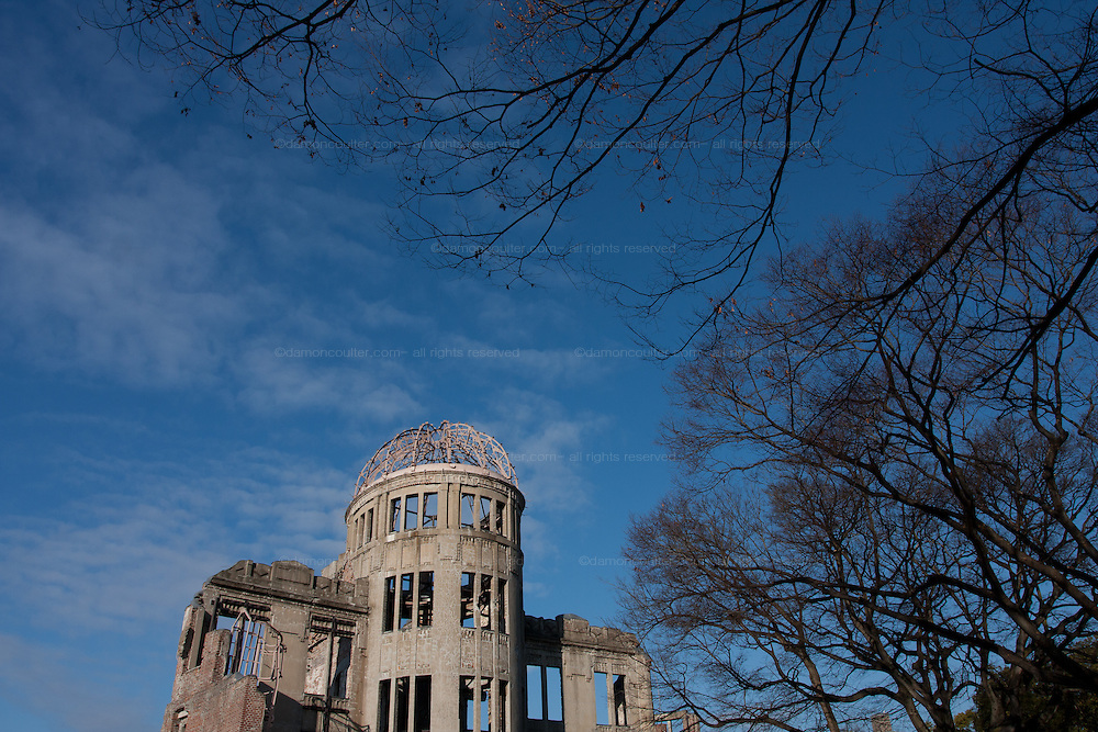 Originally the Hiroshima Prefectural Commercial Hall the Atom Bomb dome as it is now known became an iconic landmark as it was one of the few structures to be left standing after the Atomic bombing of Hiroshima on August 6th 1945. Declared a UNESCO World Heritage Site in December 1996 it serves as a memorial to the victims of that attack and a beacon for peace. Hiroshima, Japan January 8th 2010
