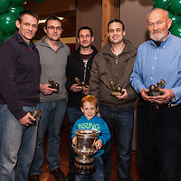 All members of the O'Dwyer Family accept awards during the Kilmurry Ibrickane GAA Club Centenary Closing Ceremony