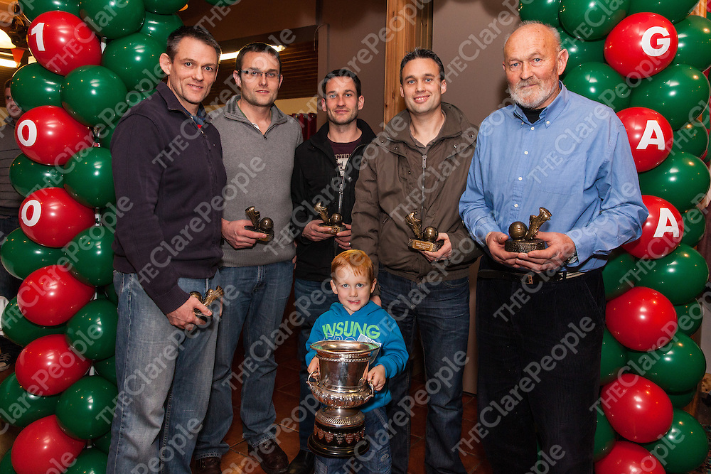 All members of the O'Dwyer Family accept awards during the Kilmurry Ibrickane GAA Club Centenary Closing Ceremony