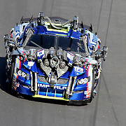 "Transformers rece cars from the movie ""Transformers: Dark of the Moon"" participate in the Daytona 500 Sprint Cup race at Daytona International Speedway on February 20, 2011 in Daytona Beach, Florida. (AP Photo/Alex Menendez)"