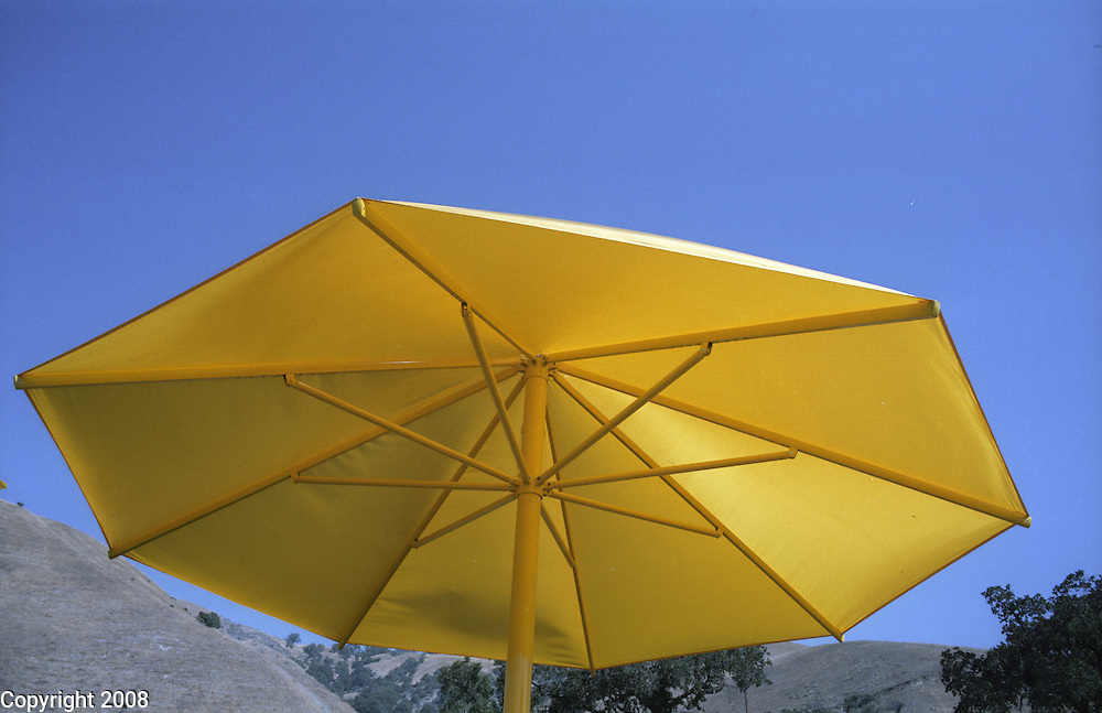Christo's yellow umbrellas near Gorman, California in October 1991.