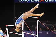 Lorette Chardy (FRANCE) during the team floor contest during the European Championships Glasgow 2018, Women's Artistic Gymnastics , Team Final at The SSE Hydro in Glasgow, Great Britain, Day 3, on August 4, 2018 - Photo Laurent Lairys / ProSportsImages / DPPI