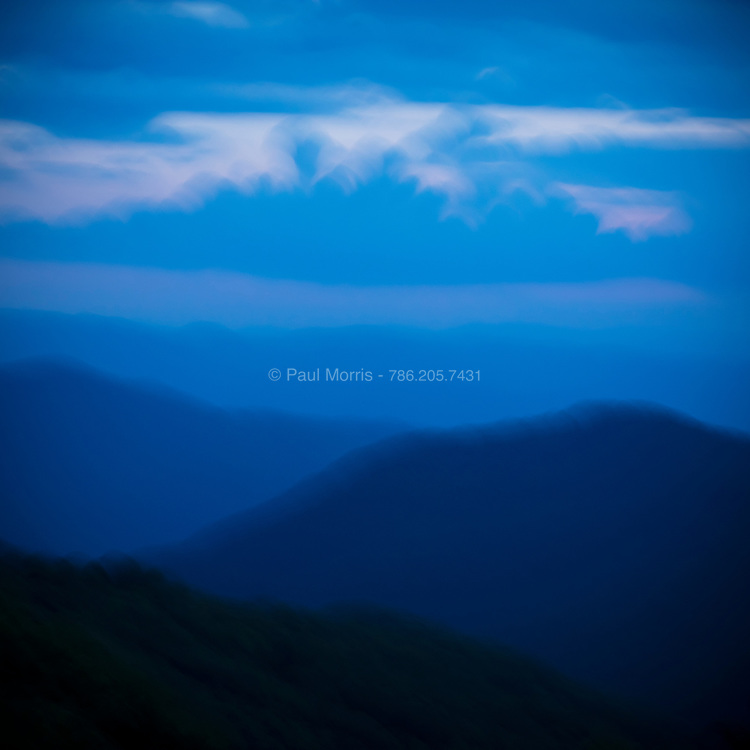 Impressionistic view of The Great Smoky Mountains