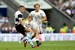 Ian Madigan of Barbarians kicks the ball - Mandatory by-line: Robbie Stephenson/JMP - 28/05/2017 - RUGBY - Twickenham Stadium - London, England - England v Barbarians - Old Mutual Wealth Cup