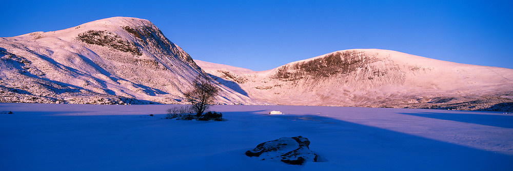 Loch Skeen, Lochcraig Head just above the Grey Mare's tail on the border of Dumfries and Galloway/Scottish Borders on a winters morning.
