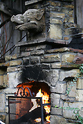CALIFORNIA COAST - JANUARY 2:  2006 A fireplace looks inviting at the Hog's Breath Inn in Carmel during New Year's vacation driving along the California Coast on January 2, 2006 in Carmel, California. ©Paul Anthony Spinelli