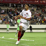 Orlando City Lions Forward Maxwell Griffin (11) celebrates after scoring a goal during a United Soccer League Pro soccer match between Puerto Rico United and the Orlando City Lions at the Florida Citrus Bowl on April 22, 2011 in Orlando, Florida.  (AP Photo/Alex Menendez)