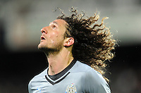 Newcastle United's Fabricio Coloccini against Sydney FC in the first match of the Football United Tour at Forsyth Barr Stadium, Dunedin, New Zealand, Tuesday, July 22, 2014.
