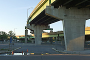 Overpasses photographed downtown