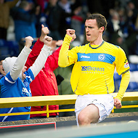 Inverness Caledonian Thistle v St Johnstone...27.10.12      SPL<br /> David Robertson celebrates his late equaliser<br /> Picture by Graeme Hart.<br /> Copyright Perthshire Picture Agency<br /> Tel: 01738 623350  Mobile: 07990 594431