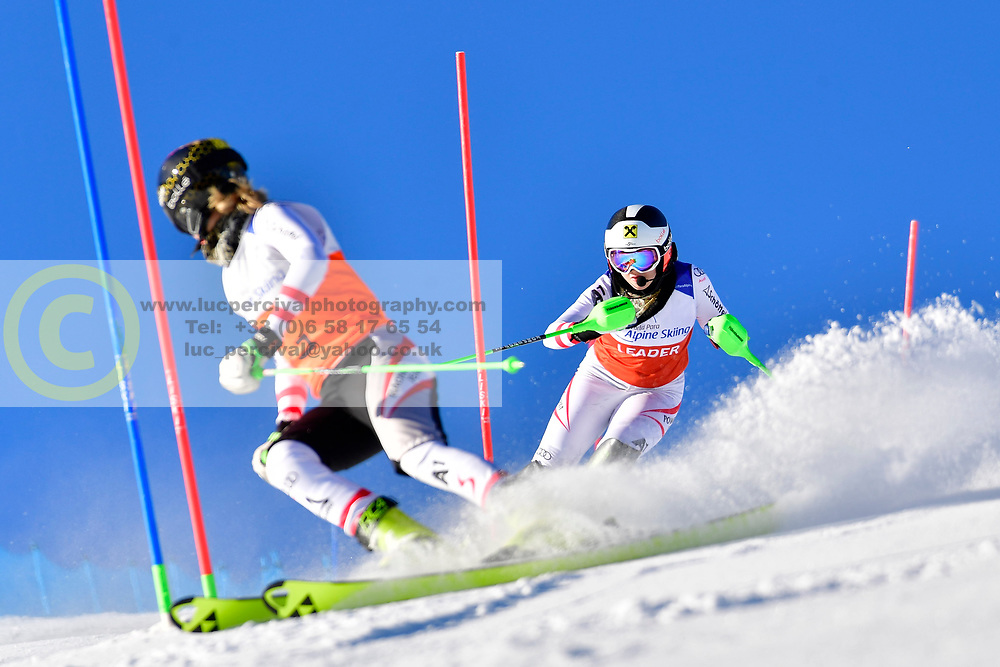 AIGNER Veronika, Guide: AIGNER Elizabeth, B2, AUT, Slalom at the WPAS_2019 Alpine Skiing World Cup, La Molina, Spain