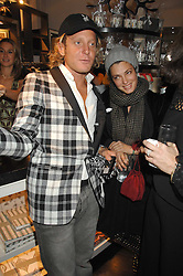 LAPO ELKANN and his sister GINEVRA ELKANN at a party hosted by Allegra Hicks to launch Lapo Elkann's fashion range in London held at Allegra Hicks, 28 Cadogan Place, London on 14th November 2007.<br />
