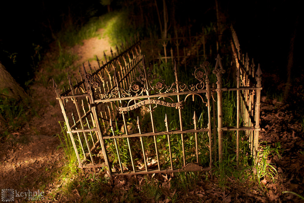 """The Old Cahawba Archaeological Park which is located outside of Selma, Ala., includes a cemetery referred to on early maps as the """"Negro Burial Ground"""" where slaves were buried. It includes a few marked graves, including one surrounded by an iron fence for Mealy Starke."""