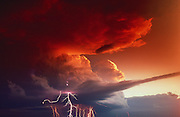Lightning storm,