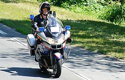 08.07.2010, AUT, 62. Österreich Rundfahrt, 5. Etappe, Bleiburg-Deutschlandsberg, im Bild ein Feature mit einem Polzei Motorrad, Motorrradfahrer, EXPA Pictures © 2010, PhotoCredit: EXPA/ S. Zangrando / SPORTIDA PHOTO AGENCY
