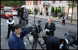Members of the press gather outside The London Clinic Hospital.  The Duke of Edinburgh has been admitted to the Hospital for exploratory operation following abdominal investigations, Thursday, 6th June 2013,Picture by Andrew Parsons / i-Images