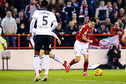 Joe Lolley of Nottingham Forest runs with the ball - Mandatory by-line: Robbie Stephenson/JMP - 25/02/2019 - FOOTBALL - The City Ground - Nottingham, England - Nottingham Forest v Derby County - Sky Bet Championship