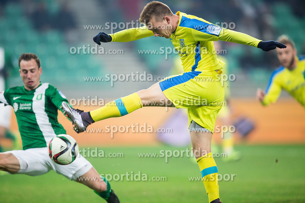 Matic Crnic #11 of Domzale during football match between NK Olimpija Ljubljana and NK Domzale in 21st Round of Prva liga Telekom Slovenije 2015/16, on December 6, 2015 in SRC Stozice, Ljubljana, Slovenia. Photo by Vid Ponikvar / Sportida