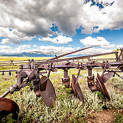 Abandoned farming equipment along Highway 285 near Fairplay, CO.