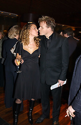 Top chef GORDAN RAMSAY and his wife TANA at the opening party of Pengelley's, 164 Sloane Street, London SW1 on 22nd February 2005.<br />