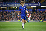 Chelsea FC defender David Luiz (30)  during the Europa League quarter-final, leg 2 of 2 match between Chelsea and Slavia Prague at Stamford Bridge, London, England on 18 April 2019.