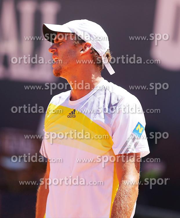 31.07.2013, Sportpark, Kitzbuehel, AUT, ATP World Tour, bet at home Cup 2013, Einzel Achtelfinale, im Bild Tennisspieler Andreas HAIDER-MAURER (AUT) waehrend seiner Zweitrunden-Partie gegen Juan MONACO (ARG) // during best of sixteen of bet at home Cup 2013 tennis tournament of the ATP World Tour at the Sportpark in Kitzbuehel, Austria on 2013/07/31. EXPA Pictures &copy; 2013, PhotoCredit: EXPA/ Eibner/ Tobias Eriksson<br /> <br /> ***** ATTENTION - OUT OF GER *****
