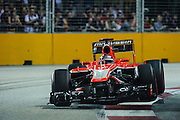 September 20, 2013: Singapore Grand Prix, Jules Bianchi, Marussia F1 team