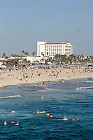 Huntington Beach on a Busy Summer Weekend, California