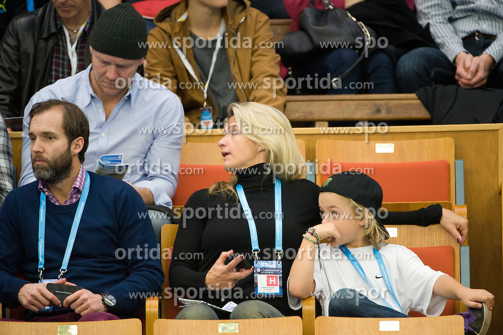 20.10.2012, Kungliga Tennis Halle, Stockholm, SWE, ATP, Stockholm Open, im Bild Mats SUndin and Kristin Kaspersen talking // during the gameduring the ATP Stockholm Open at the Kungliga Tennis Halls, Stockholm, Sweden on 2012/10/20. EXPA Pictures © 2012, PhotoCredit: EXPA/ PicAgency Skycam..***** ATTENTION - OUT OF SWE *****