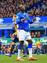 Everton's Romelu Lukaku looks dejected - Mandatory byline: Matt McNulty/JMP - 19/03/2016 - FOOTBALL - Goodison Park - Liverpool, England - Everton v Arsenal - Barclays Premier League