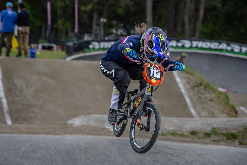 #113 (BERNARD Mathilde) FRA during round 3 of the 2017 UCI BMX  Supercross World Cup in Zolder, Belgium,